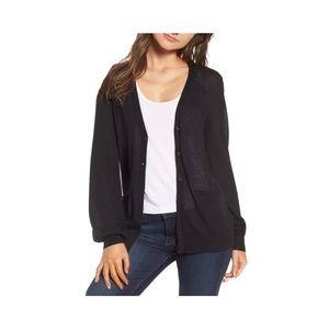 Hinge Blouson Sleeve Cardigan Size Medium